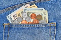 Pocket money Royalty Free Stock Images