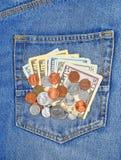 Pocket money Royalty Free Stock Photography