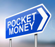 Pocket money concept. Royalty Free Stock Images