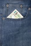 Pocket with money Royalty Free Stock Photo