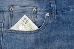 Pocket with money Stock Image