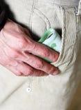 Pocket with money Royalty Free Stock Photo