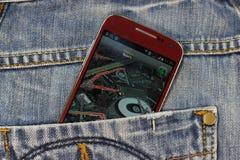 Pocket navigator Stock Images