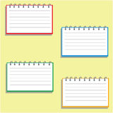 Pocket notebook in four dimensions Royalty Free Stock Photography