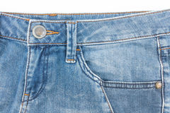 Pocket of old jean. Stock Photography