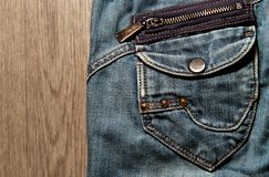 Pocket of old jeans Royalty Free Stock Photography