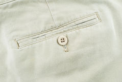Pocket on pants with botton Stock Image
