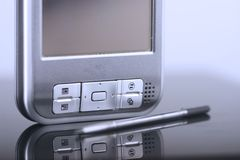 Pocket pc. Pocket computer. Close-up shot royalty free stock photo