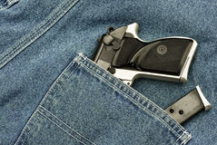 Pocket pistol and magazine Royalty Free Stock Photography