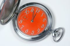Pocket retro hours stock image