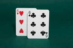 Pocket sixes Royalty Free Stock Image