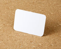 Pocket size calendar card on corkboard background. Royalty Free Stock Photo