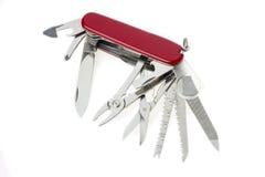 Pocket swiss army knife on white Stock Photo