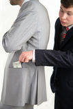 Pocket Thief. As long as people diverting thief steals his money Royalty Free Stock Images