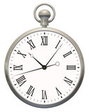 Pocket Timepiece. Flat graphic view of pocket watch on white background Stock Photography