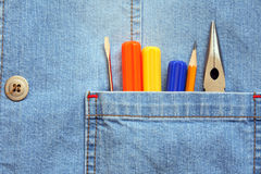 Pocket With Tools Royalty Free Stock Photography