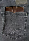 Pocket with wallet Royalty Free Stock Photo
