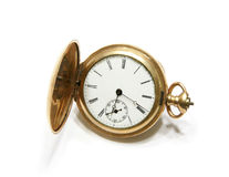 Pocket watch. Picture of the old pocket watch isolated on the white background Stock Images