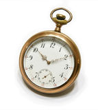 Pocket watch. Picture of the old pocket watch isolated on the white background Stock Image