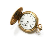 Pocket watch. Picture of the old pocket watch isolated on the white background Stock Photography