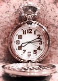 Pocket watch. Over grunge background Stock Photos
