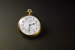 Pocket Watch. Old winding train conductors pocket watch Stock Photography
