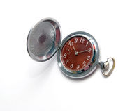 Pocket watch. Opened pocket watch on a white background Royalty Free Stock Photography