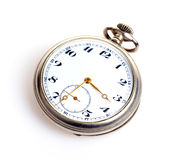 Pocket watch. Old pocket watch isolated on white background Royalty Free Stock Photography