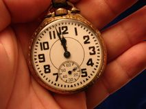Pocket watch. Old antique 1950s Pocket watch Stock Photo
