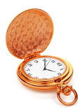 Pocket watch. Gold pocket watch, isolated on the white background, clipping path included Stock Images