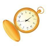 Pocket watch. Retro pocket watch isolated on the white background Stock Photography