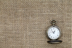Pocket watch. On canvas fabric Royalty Free Stock Images