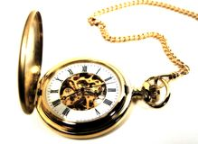 Pocket Watch 2. Photo of a Gold Pocket Watch With Color, Grain and Blur Effect Royalty Free Stock Photography