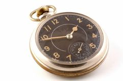 Pocket Watch. A antique pocket watch on a white background Stock Photo