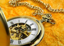 Pocket Watch. Photo of a Gold Pocket Watch Royalty Free Stock Photos