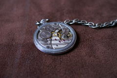 Pocket watch. Clockwork of an old pocket watch Stock Image