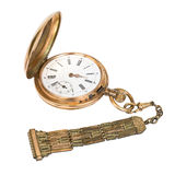 Pocket watch. Ancient pocket watch on a white background royalty free stock photography