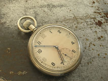 Pocket Watch. On metal Stock Photo