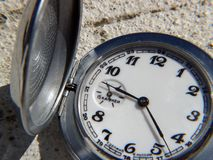 Pocket watch. Closeup Stock Photo
