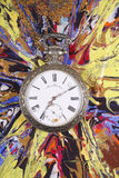 Pocket watch on abstract Royalty Free Stock Image