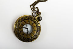 Pocket watch against a light background Stock Photography