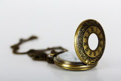 Pocket watch against a light background Stock Photo