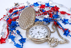 Pocket Watch And Party Beads Stock Photography