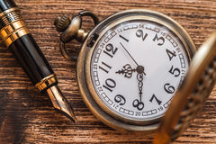 Pocket watch background Stock Image