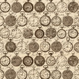 Pocket Watch Background Pattern Royalty Free Stock Photography