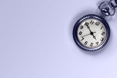 Pocket Watch and Blue Copy Space Royalty Free Stock Photos