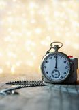Pocket watch with bokeh background Royalty Free Stock Images