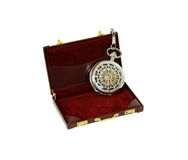 Pocket Watch in briefcase Stock Photography