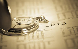 Pocket watch and calendar Royalty Free Stock Photo