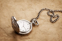 Pocket watch with chain Royalty Free Stock Image